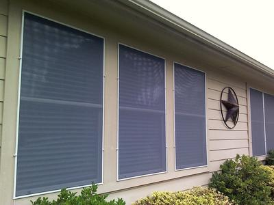 Solar Screens - white frames with 60% Solar Insect Silver Grey